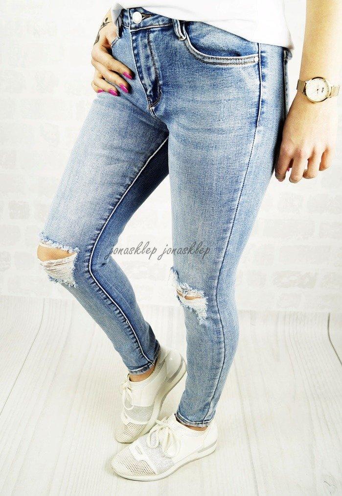 JEANSY PUSH UP dziury na kolanach HOLES   Kolekcja  Spodnie