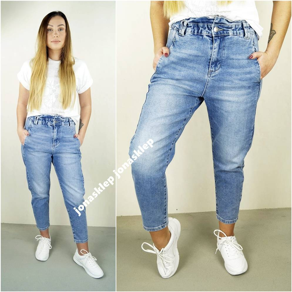 BAGGY JEANS falbanka new look LUŹNE mom fit