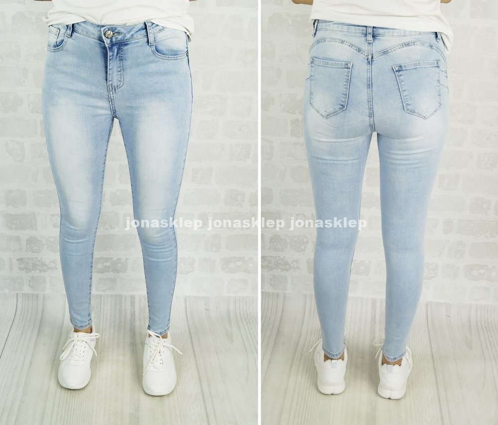 CLASSIC DENIM PUSH UP JEANS jasne