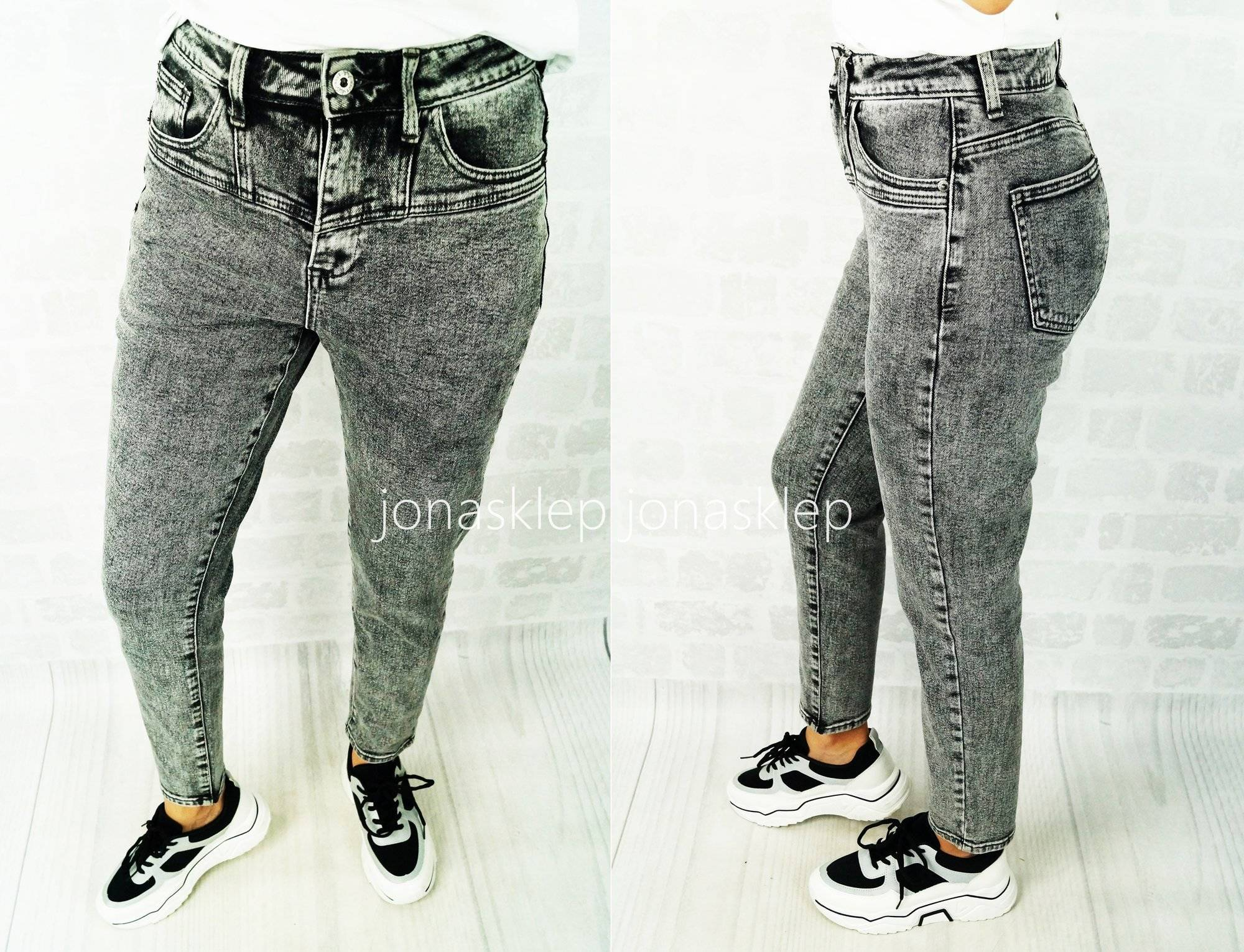 CLASSIC grey jeansy sexy pas LADY