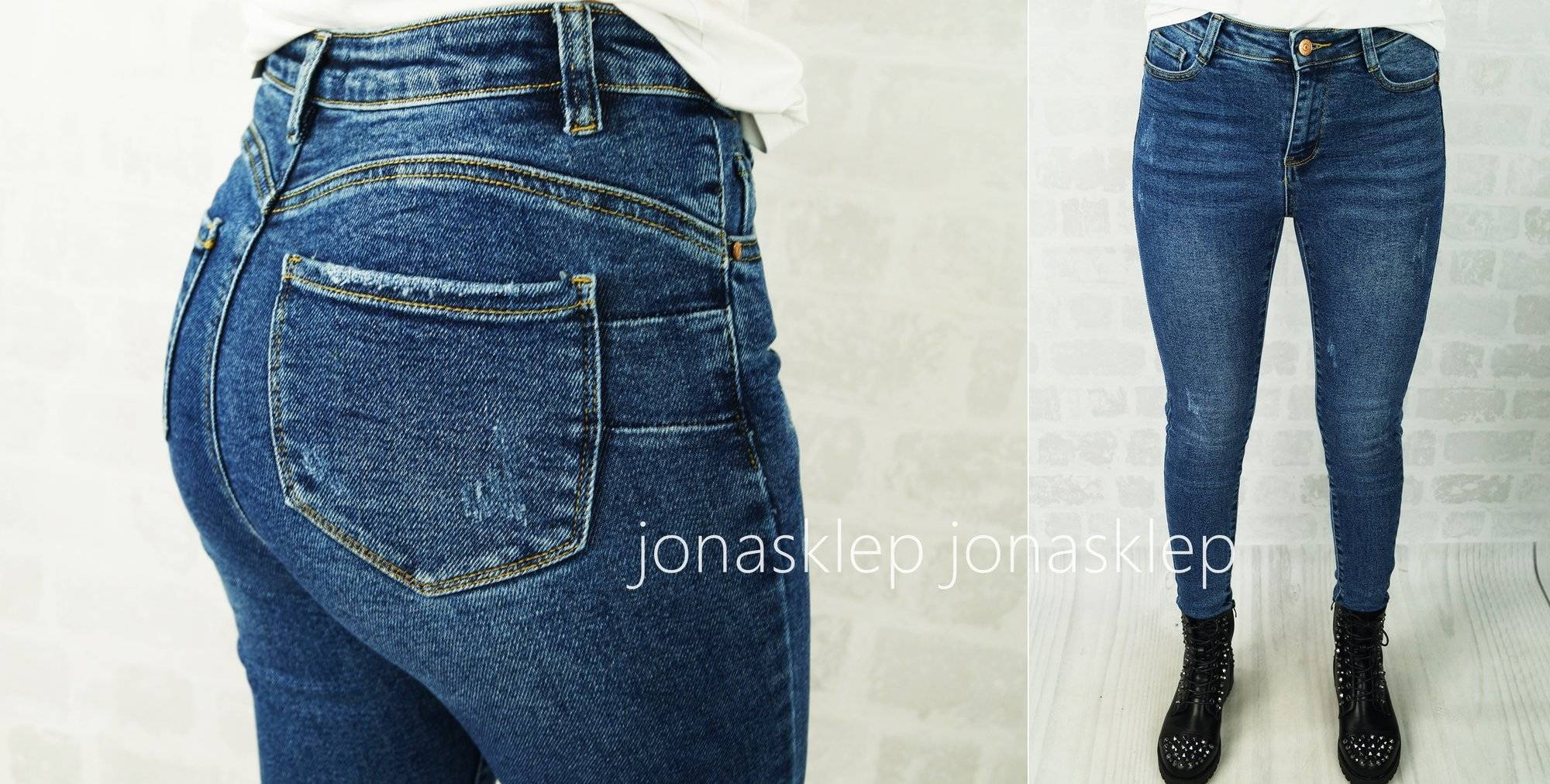 Classic jeans rurki VOICE PUSH UP