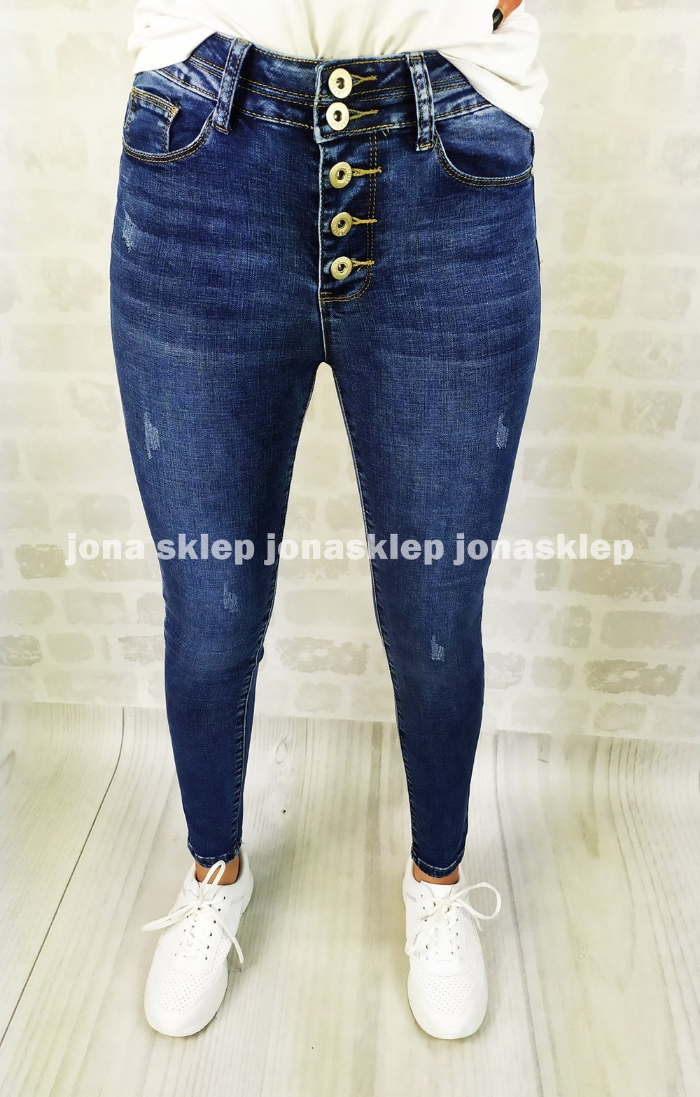 DARK jeans PUSH UP button GUZIKI ciemne