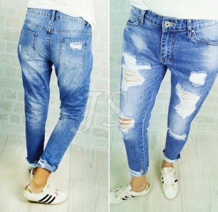 DENIM JEANS HOLES baggy RIPPED dziury