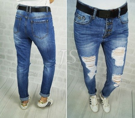 JEANS HOLES boyfriend dziury BUTTON