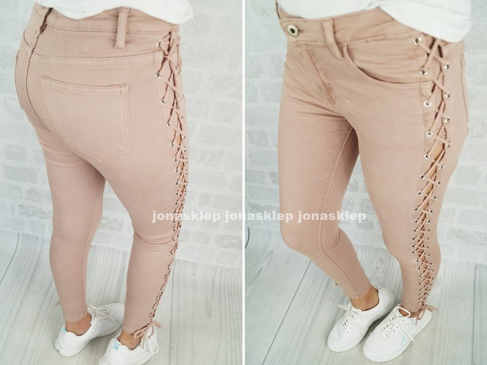 Pudrowe LACE UP pastel pink