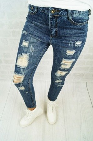 RIPPED JEANSY HOLES DENIM