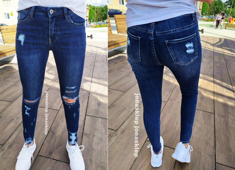 SEE jeans PUSH UP HOLES dziury rurki ripped